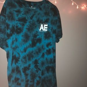American Eagle Outfitters Shirts - American Eagle Blue Tie Dye Tee